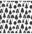 scandinavian forest seamless pattern vector image