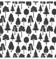 scandinavian style forest seamless pattern vector image vector image
