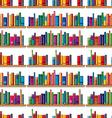 seamless books on shelf vector image