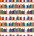 Seamless books on the shelf vector image vector image