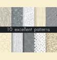 set 10 perfect patterns hipster stile vintage vector image