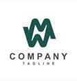 simple mw mnw initials company logo vector image vector image