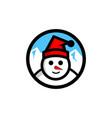 snowman logo winter vector image vector image