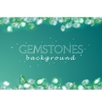 sparkling gemstones emeralds on green background vector image vector image