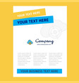 targeted cloud title page design for company vector image