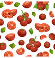 tomatoes eco vegetables organic seamless pattern vector image vector image