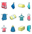towel hanging spa bath icons set cartoon style vector image vector image