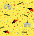travel berlin city seamless pattern german vector image vector image