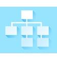 tree structure icon hierarchy vector image