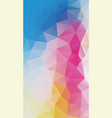 vertical flat background of geometric triangle vector image vector image