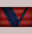 vintage metal red and blue abstract geometry