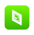 voted sign icon green vector image