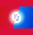 vs letters versus banner competitive concept vector image