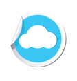 Weather forecast cloud icon vector image