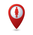 woman icon red map pointer vector image vector image