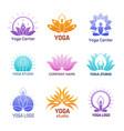 yoga logo abstract ethnic symbols for vector image