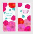 flower banner holiday vector image