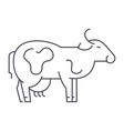 cow line icon sign on vector image