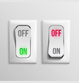 3d toggle switch white switches with on vector image vector image