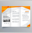 abstract orange trifold brochure design business vector image vector image