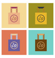 assembly flat icons coffee paper package vector image vector image