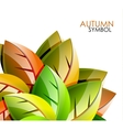 Autumn leaves concept background vector image