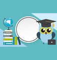 back to school education background with frame vector image vector image