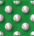 baseball seamless pattern tennis ball tile vector image
