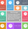 Basketball icon sign Set of multicolored buttons vector image