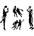 basketball sketch set vector image vector image