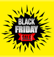 black friday concept photo realistic background vector image