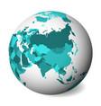 blank political map asia 3d earth globe