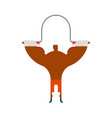 boxer on rope jump training fitness exercises vector image