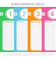 Bright infographic template suitable for business vector image