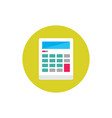 calculator - concept colored icon in flat graphic vector image vector image