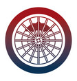 car wheel with disk brake industry automotive vector image