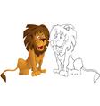 Caroon leon vector image vector image