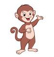 cartoon cute baby monkey vector image vector image