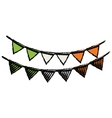 cartoon festive bunting st patrick day vector image vector image