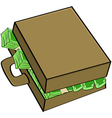 Cash in suitcase vector image