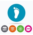 Child footprint sign icon Barefoot vector image vector image