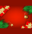 christmas and new year s holiday background vector image vector image