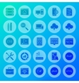 Coding Solid Circle Icons vector image vector image