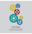 Colorful gears icons background design vector image vector image
