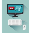 computer cyber monday bying cart vector image