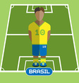 Computer game Brasil Football club player vector image vector image