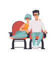 couple in love watching movie in cinema theater in vector image vector image