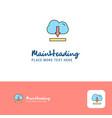 creative cloud downloading logo design flat color vector image vector image