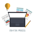 Creative process graphic design them vector image vector image