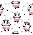 dancing panda pattern vector image vector image